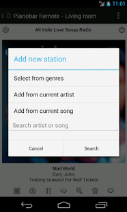 Pianobar (Pandora) Remote - screenshot thumbnail