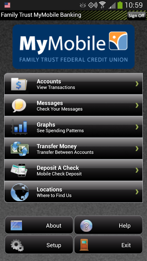 Family Trust MyMobile - screenshot