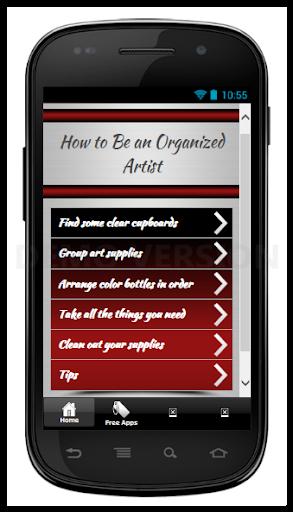 Be an Organized Artist