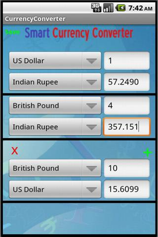 Smart Currency Converter- screenshot