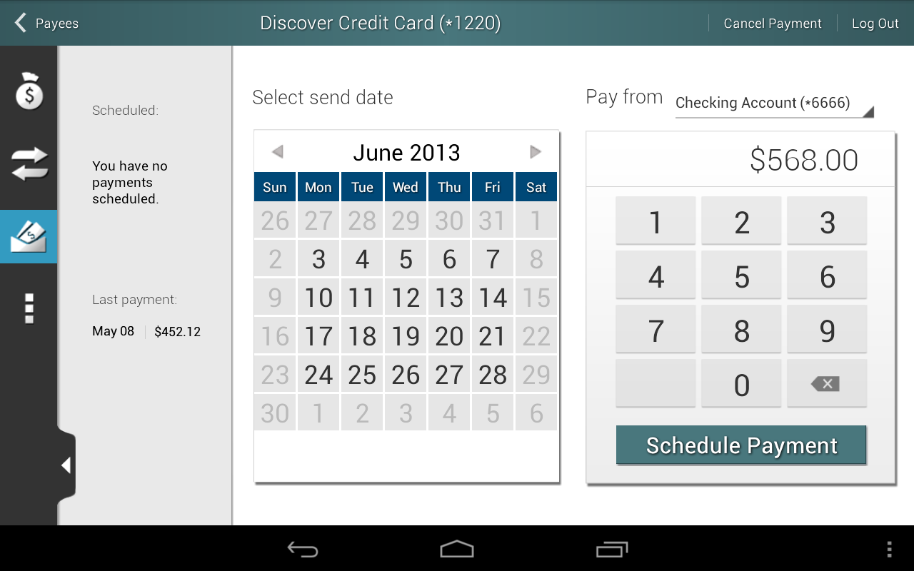 Horizon Mobile Banking - screenshot