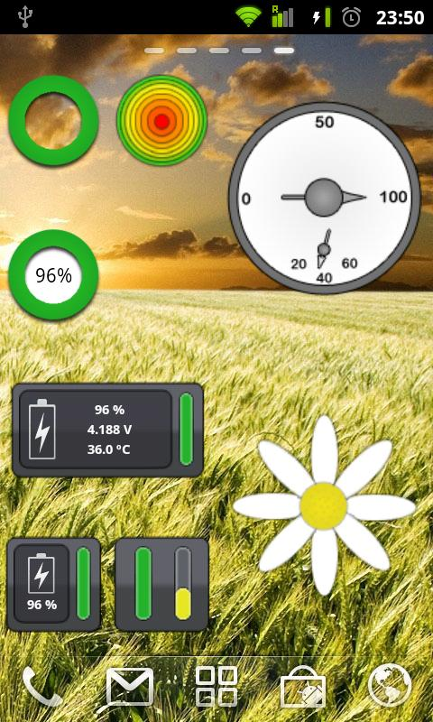 GBattery Widgets- screenshot