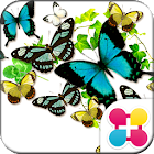 Butterflies in summer Theme icon