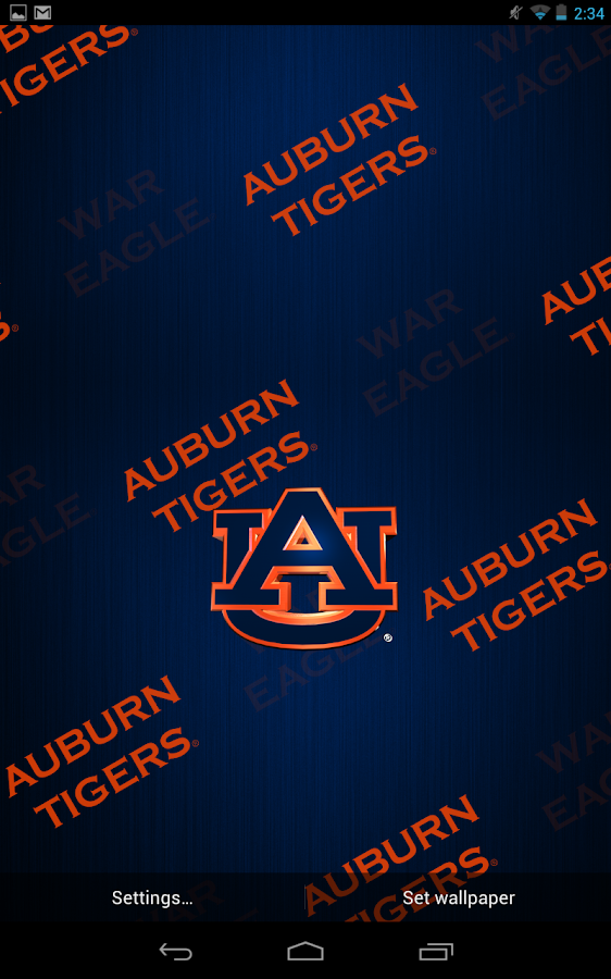 Auburn Tigers Live Wallpaper - screenshot