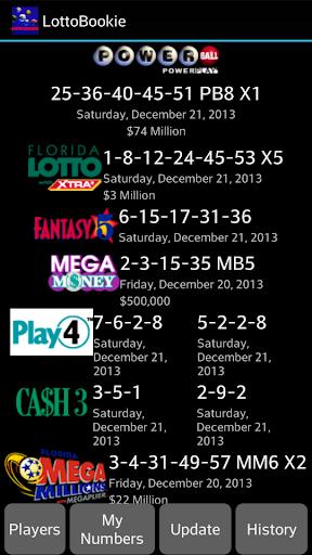 LottoBookie -Florida