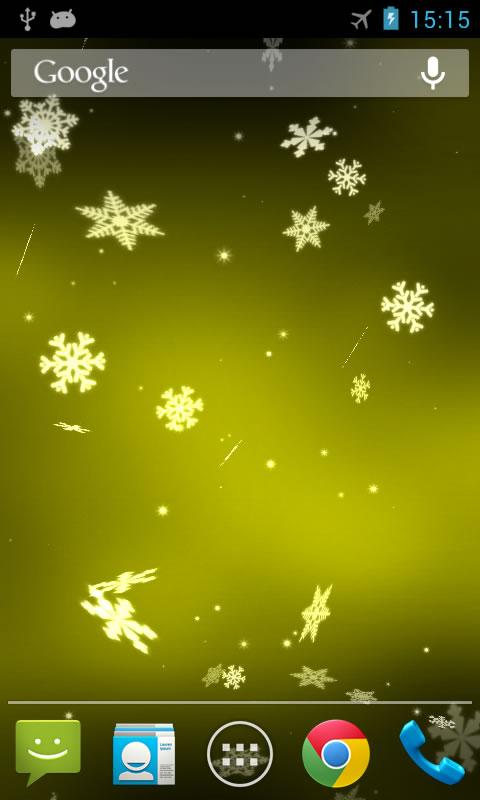 Snowflake 3D Live Wallpaper- screenshot
