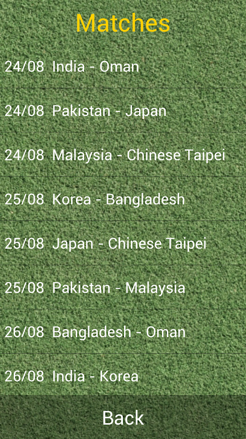 Men's Hockey Asia Cup 2013 - screenshot