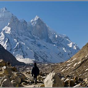 Bhagirathi by Manabendra Ghosh - Landscapes Mountains & Hills ( ganga, snow, gomukh, nikon, trek )