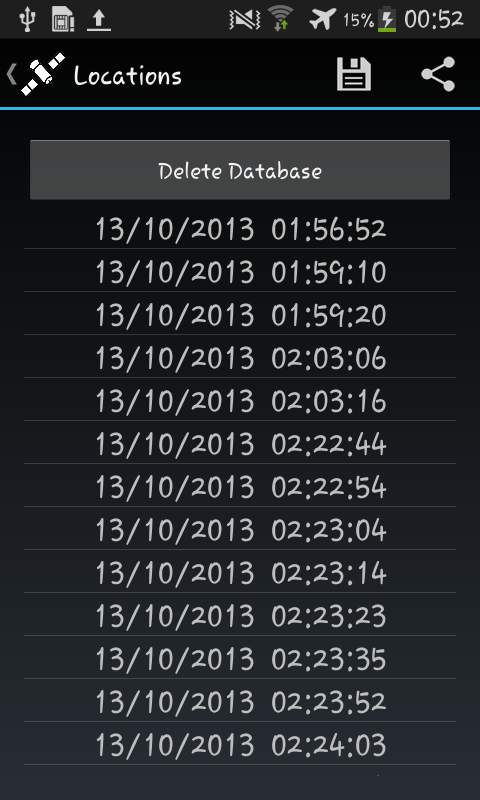 GPS Logger Lite- screenshot