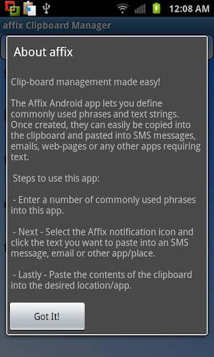 affix Clipboard Manager