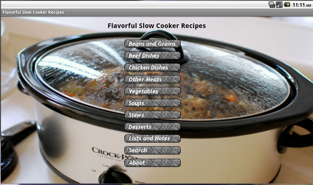 Flavorful Slow Cooker Recipes- screenshot