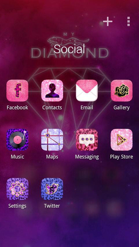 My Diamond GO Launcher Theme - screenshot