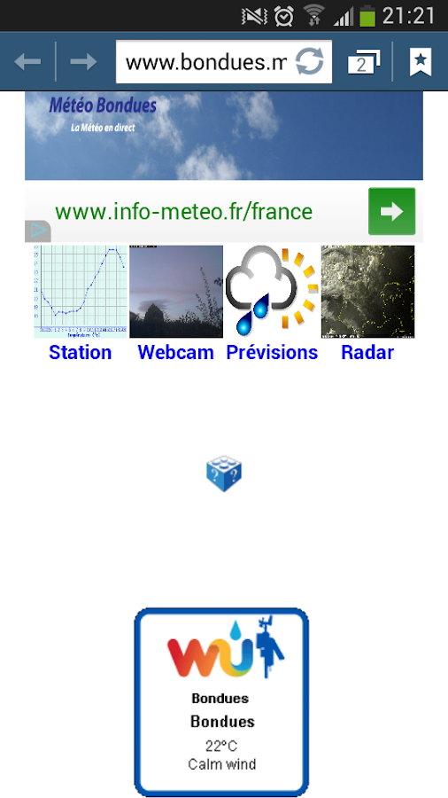 Météo Bondues (59)- screenshot