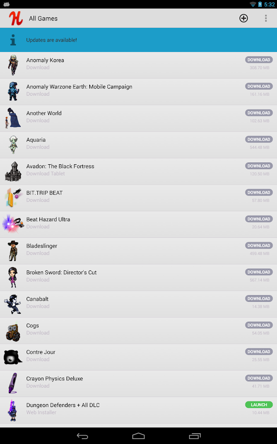 Humble Bundle (beta) - screenshot
