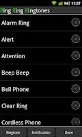 Screenshot of Ring Ring Ringtones