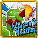Address and Weather icon