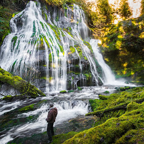 Panther Creek Observed by Gary Piazza - Landscapes Waterscapes