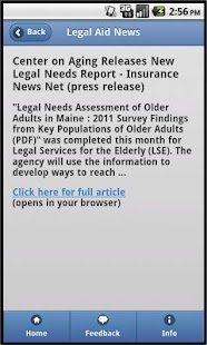 Legal Aid News- screenshot thumbnail