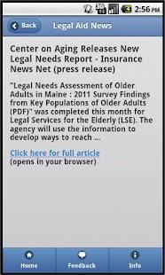 Legal Aid News- screenshot thumbnail
