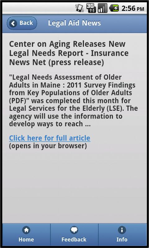 Legal Aid News- screenshot
