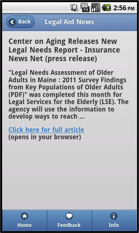 Legal Aid News- screenshot