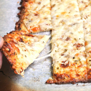 Cheesy Garlic Cauliflower Bread Sticks.