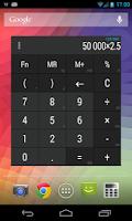Screenshot of Calculator + Widget 21 themes