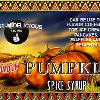 Golden Pumpkin Spice Syrup