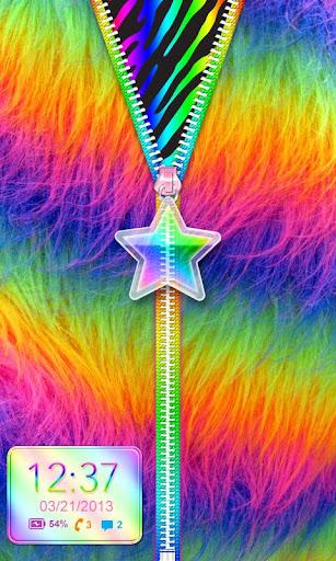 Rainbow★Star★Zipper Lockscreen