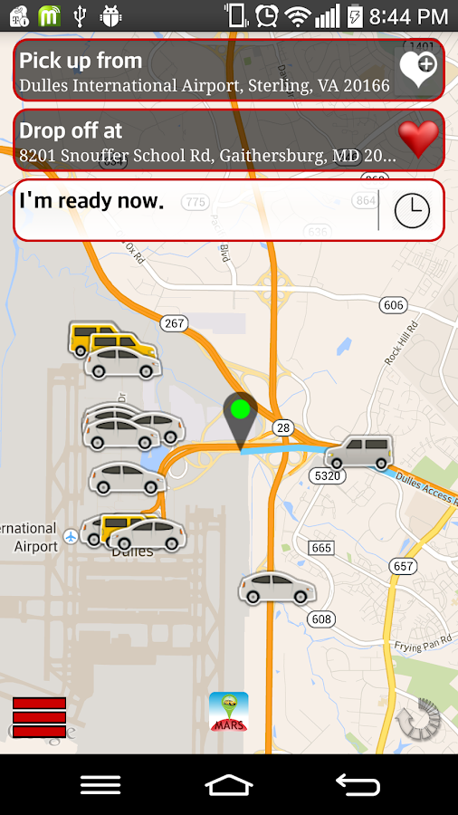Springs Cab - Booking- screenshot