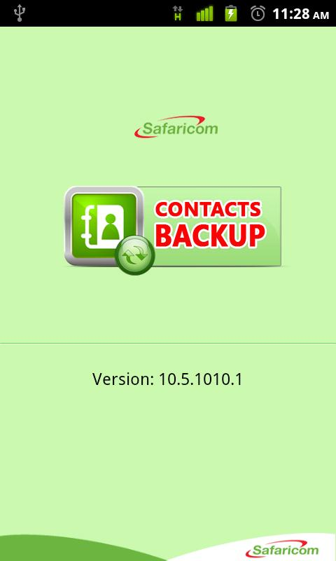 Safaricom Contacts Backup - screenshot