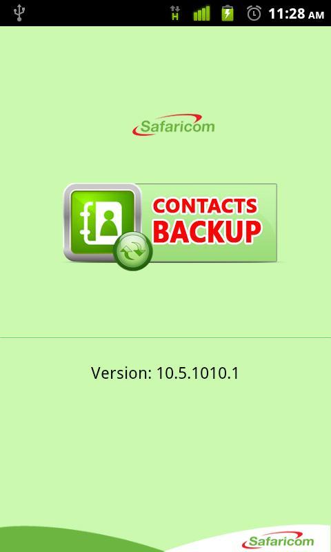 Safaricom Contacts Backup - screenshot