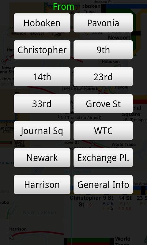 Path Train Times - screenshot