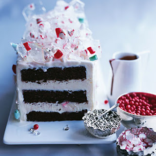 Peppermint Ice Cream Candyland Cake.