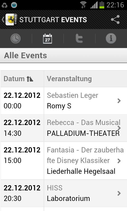 STUTTGART EVENTS - Eventguide- screenshot