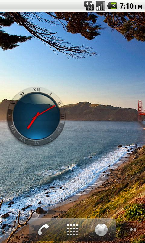 Transparent Analog Clock - screenshot