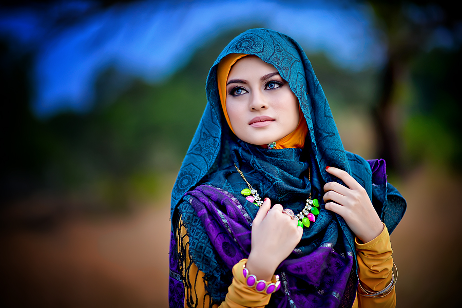 Colors Hijab by Ismail Rahman - People Portraits of Women ( fashion, color, malay, hijab, women )