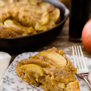 Maple Brown Butter Upside-Down Apple Cake