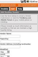 Screenshot of T&T Doubles Vendor Directory