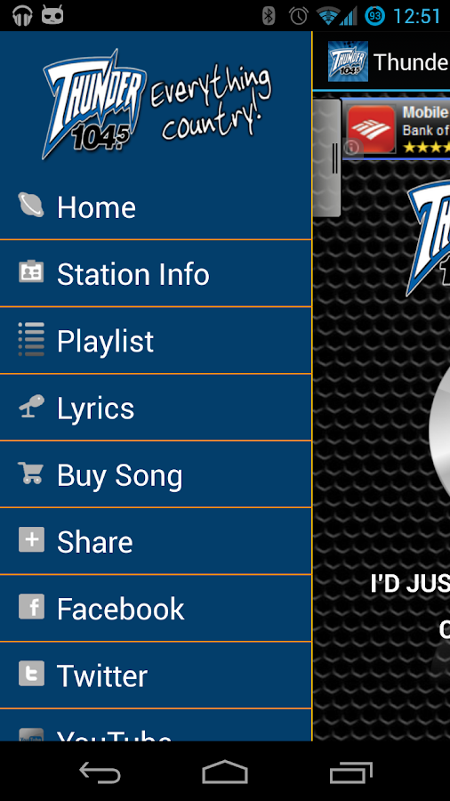 Thunder 104.5 - screenshot
