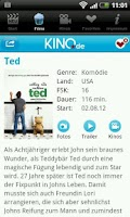 Screenshot of KINO.de Filme Trailer Programm