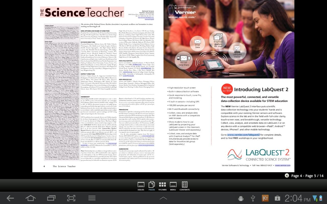 The Science Teacher Magazine - screenshot