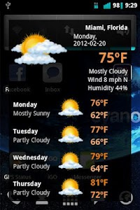 Quick Weather Forecast screenshot 0