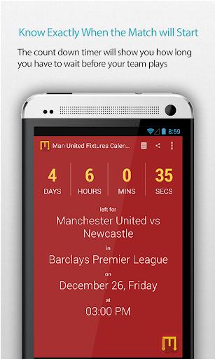 Man United Fixtures Calendar