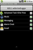 Screenshot of Task Killer