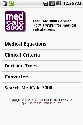 MedCalc 3000 Cardiac - screenshot