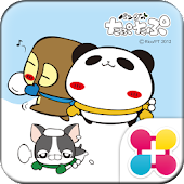 パンダのたぷたぷ冬Ver.for[+]HOMEきせかえテーマ