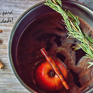 Mulled Wine with Chocolate and Spices.