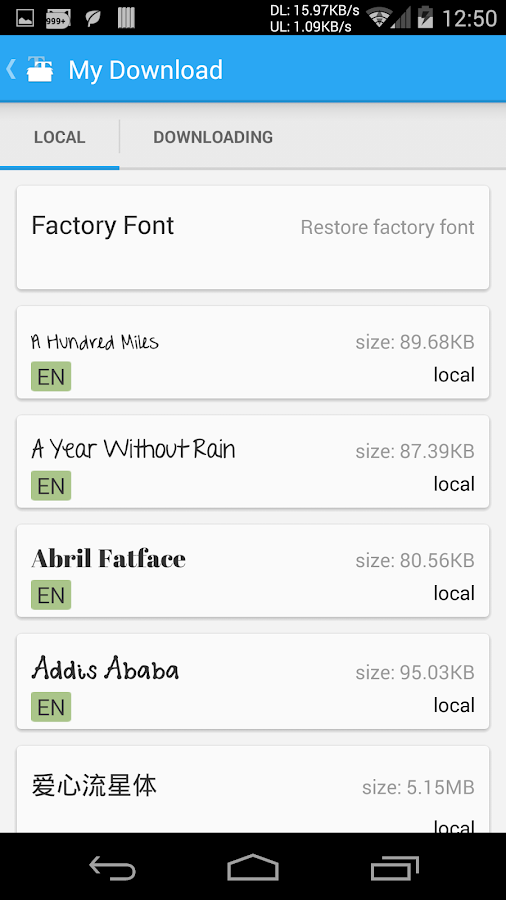 iFont(Expert of Fonts) - screenshot