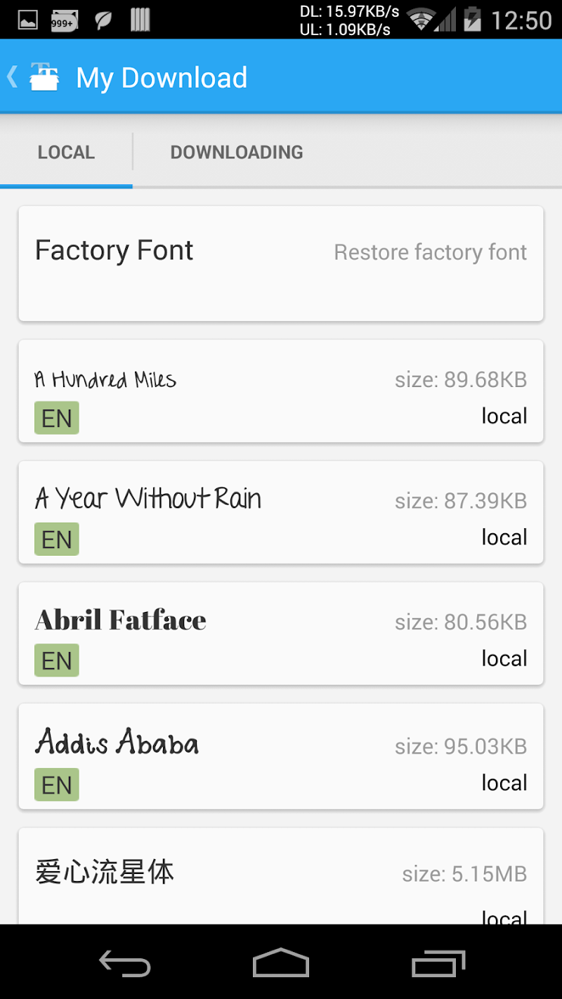 iFont(Expert of Fonts) Screenshot 3